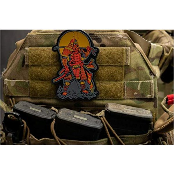 BASTION Airsoft Morale Patch 5 BASTION Morale Patches (Moderm Samurai) | 3D PVC Patch with Hook & Loop Fastener Backing | Well-Made | Military Combat Badge Patches Ideal for Tactical Bag, Hats & Vest