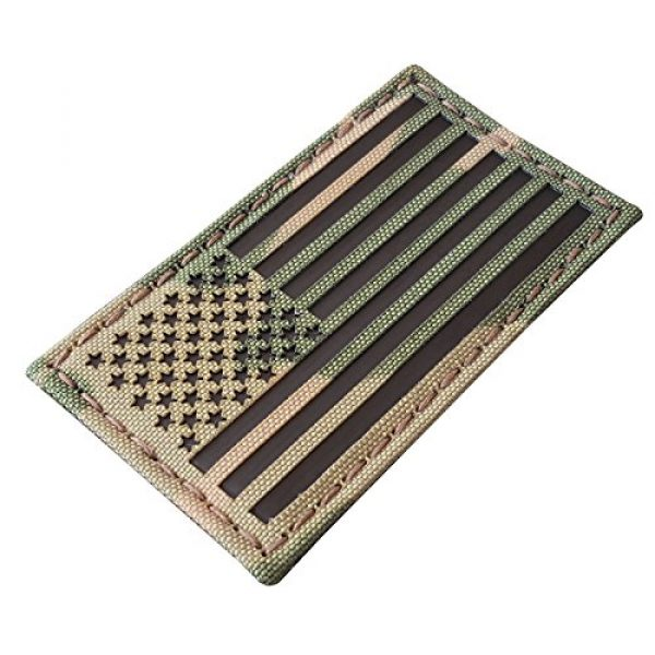Tactical Freaky Airsoft Morale Patch 4 Multicam Infrared IR USA American Flag 3.5x2 IFF Tactical Morale Hook&Loop Patch