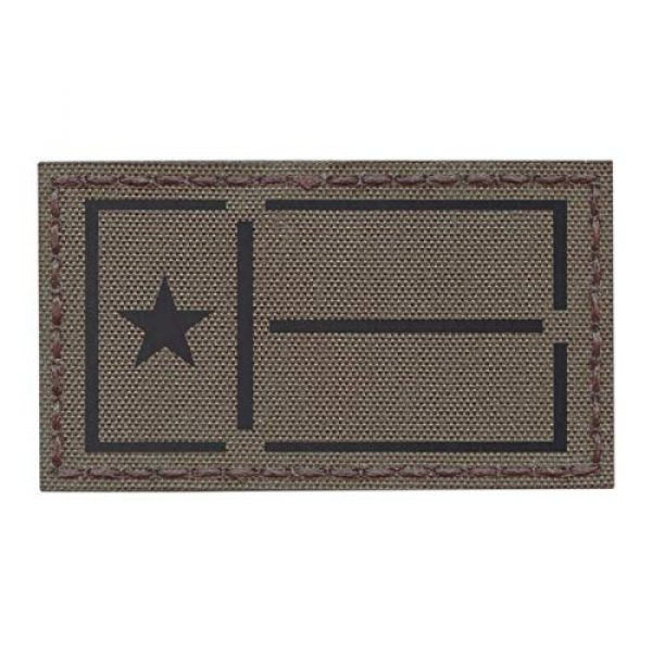 Tactical Freaky Airsoft Morale Patch 1 IR Ranger GreenTexas Lone Star Flag 2x3.5 IFF Plate Carrier Tactical Morale Hook-and-Loop Patch