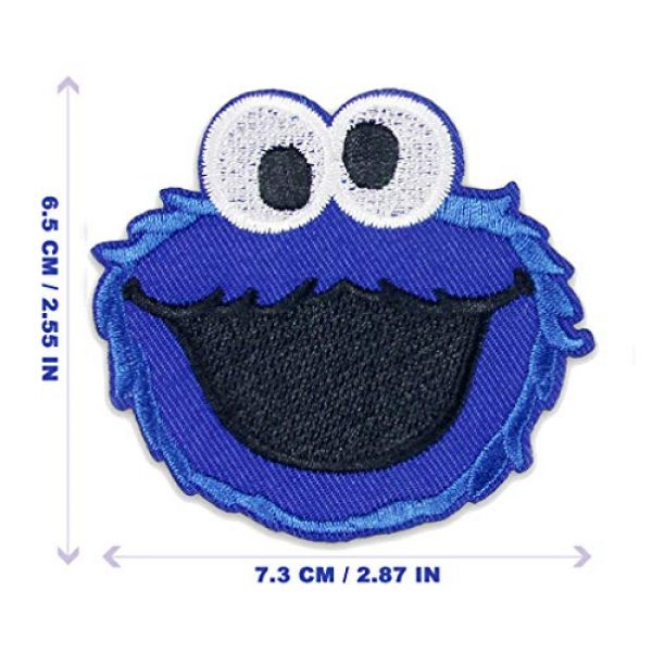 DOHAOOE Airsoft Morale Patch 2 Sesame Street Patch 1 Piece Cookie Monster Sew On/Iron On Patches for Jackets Backpacks Clothes Jeans Denim Hat Exquisite Embroidered Cartoon Applique DIY Decorations (Cookie Monster 1)