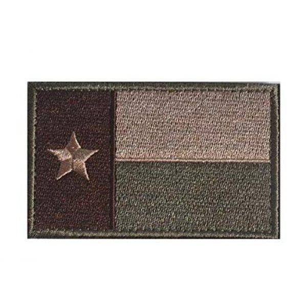 Tactical Embroidery Patch Airsoft Morale Patch 1 State Flag of Texas Embroidery Patch Military Tactical Morale Patch Badges Emblem Applique Hook Patches for Clothes Backpack Accessories
