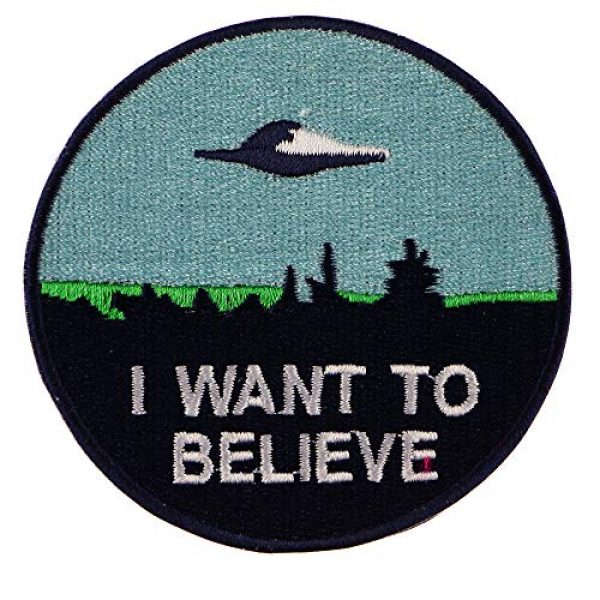 """JPT Airsoft Morale Patch 3 Ê""""Ìá´""""ÌÊ 4 Patches - I Want to Believe, Trust NO ONE, I Want to Leave Iron Sew on Patches"""
