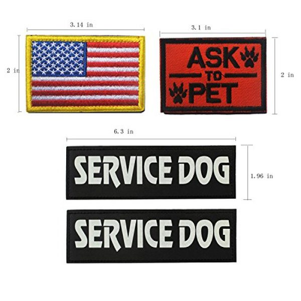Homiego Airsoft Morale Patch 2 Homiego Military Morale Service Dog Patch for Pet Tactical K9 Service Harness Vest Pack of 4 (1)
