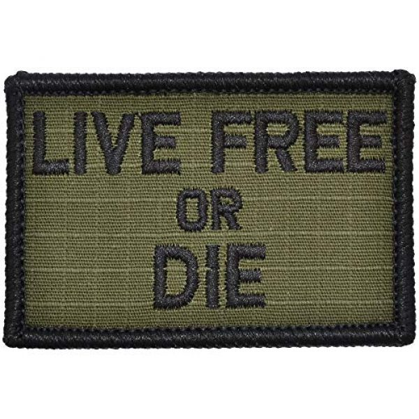 Tactical Gear Junkie Airsoft Morale Patch 1 Live Free Or Die - 2x3 Patch - Multiple Colors (Olive Drab)