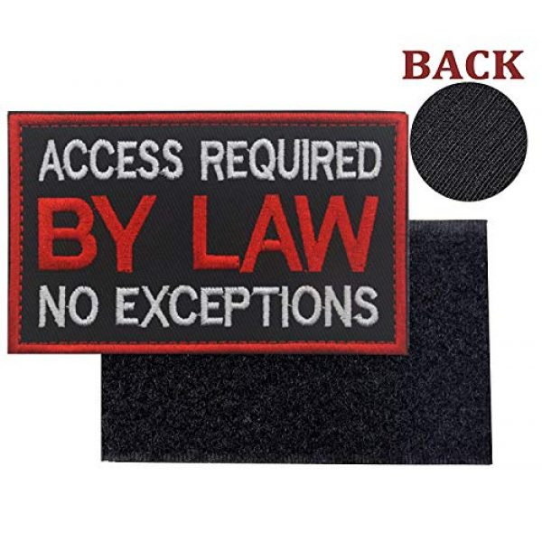 WUXL Airsoft Morale Patch 3 WUXL Patch Service Dog Access Required by Law No Exceptions Vests/Harnesses Emblem Embroidered Fastener Hook & Loop PatchService Dog -by Law