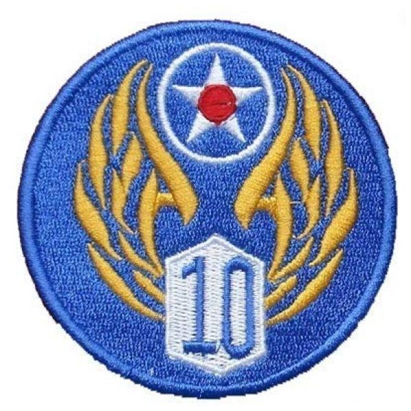 Tactical Embroidery Patch Airsoft Morale Patch 1 10th Air Force Embroidery Patch Military Tactical Morale Patch Badges Emblem Applique Hook Patches for Clothes Backpack Accessories
