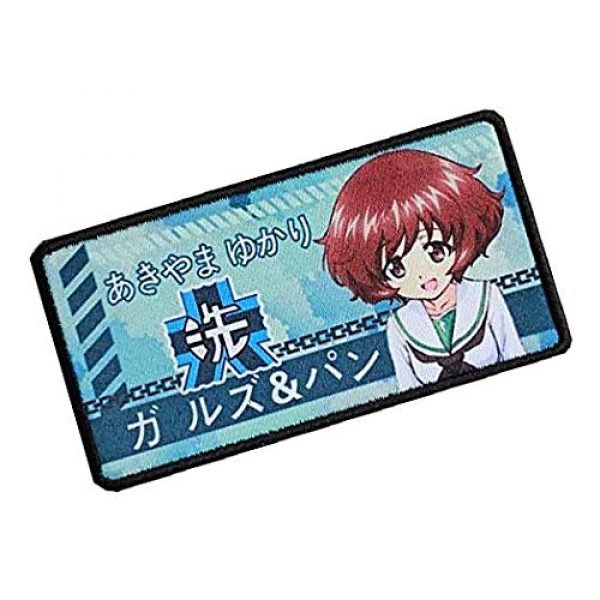 Fine Print Patch Airsoft Morale Patch 2 Japan Anime Girls & Panzer Hook Loop Tactics Morale Printed Patch (color4)