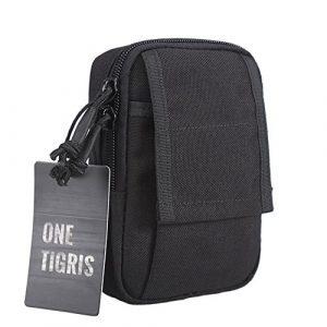 "OneTigris Tactical Pouch 1 OneTigris Tactical Molle EDC Pouch Utility Gadget Belt Waist Bag for 5.5"" iPhone 6 Plus iPhone 7 Plus Smartphone"