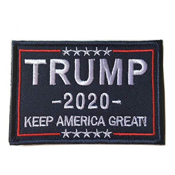 Xunqian Airsoft Morale Patch 1 Keeping America Great Donald Trump 2020 Tactical Morale Military Emblem Embroidered Fastener Hook and Loop Patch (A-Blue)