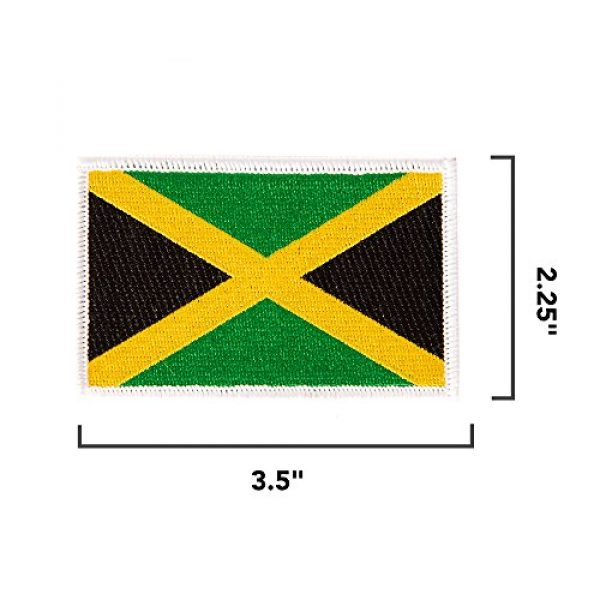 Desert Cactus Airsoft Morale Patch 2 Jamaica Flag Patch Bulk 3.5 inch x 2.25 inch State Iron On Sew Embroidered Tactical Backpack Hat Bags Jamaican (3-Pack Patch)