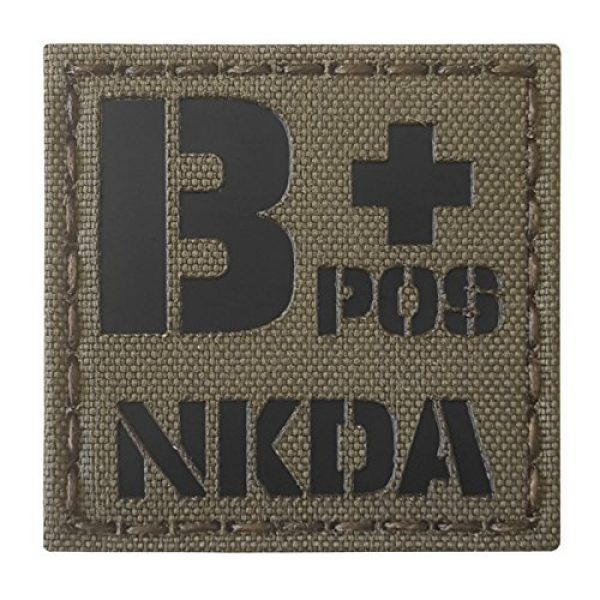 Tactical Freaky Airsoft Morale Patch 1 Ranger Green Infrared IR BPOS NKDA B+ Blood Type 2x2 Tactical Morale Fastener Patch