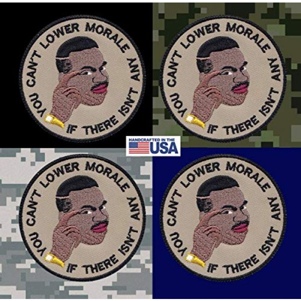 Tactical Patch Works Airsoft Morale Patch 3 Can'T Lower Morale Military Meme Patch