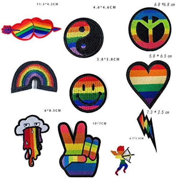 VANVENE Airsoft Morale Patch 2 VANVENE Rainbow LGBT Gay Pride Patches Set,Lesbian Patch Embroidered Morale Emblem Iron On or Sew On Patch Appliques Dress, Plant, Hat, Cap, Jacket, Jeans