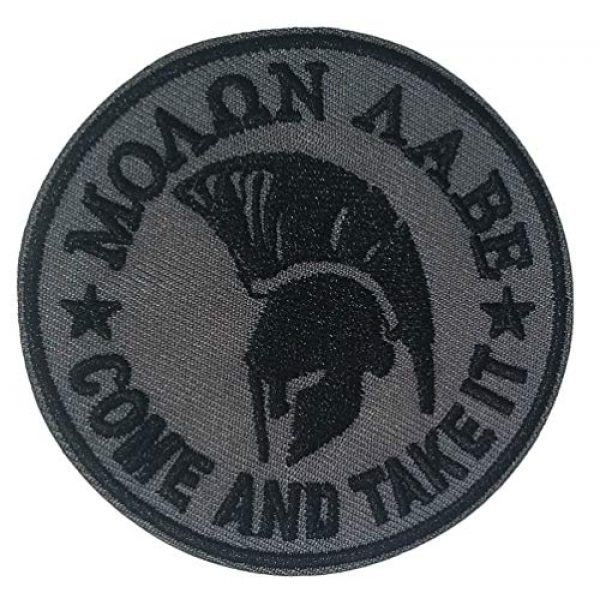 """Appalachian Spirit Airsoft Morale Patch 1 Molon Labe Spartan Helmet 3"""" Embroidered Premium Patch Iron-On/Sew-On Decorative Applique Cap Hat American Nation Country Patriotic Military Veteran Uniform Name Tag Custom Gear Ancient Warrior"""