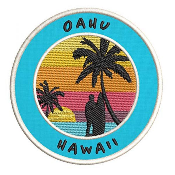 Appalachian Spirit Airsoft Morale Patch 1 Oahu, Hawaii Surfing Spot Embroidered Premium Patch DIY Iron-on or Sew-on Decorative Badge Emblem Vacation Souvenir Travel Gear Clothes Appliques