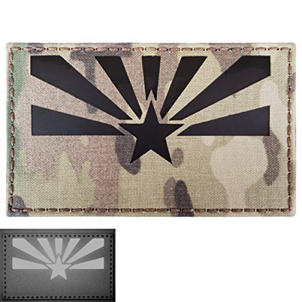 Tactical Freaky Airsoft Morale Patch 1 Big 3x5 Multicam Infrared IR Arizona Flag IFF Tactical Morale Fastener Patch
