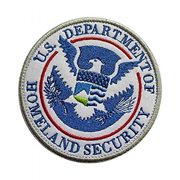 Embroidery Patch Airsoft Morale Patch 3 DEPT of Homeland Security Military Hook Loop Tactics Morale Embroidered Patch