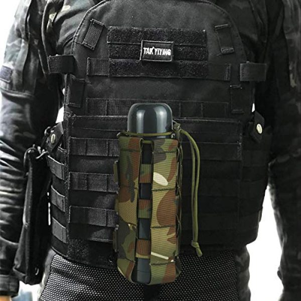 Aoutacc Tactical Pouch 4 2 Pack Molle Tactical Water Bottle Pouch Adjustable Straps Outdoor Sports Kettle Carrier Holder for Molle Systems