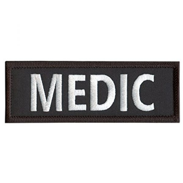 """LEGEEON Airsoft Morale Patch 1 LEGEEON Medic 5""""x2"""" EMT EMS Paramedic Body Armor Tactical Embroidered Nylon Fastener Patch"""