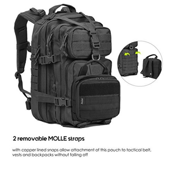 ProCase Tactical Pouch 5 ProCase Tactical MOLLE Pouch, Compact EDC Military Admin Utility Gadget Waist Bag Water-Resistant Multi-Purpose Gear Tool Map Organizer EMT Medical First Aid Kit -Black