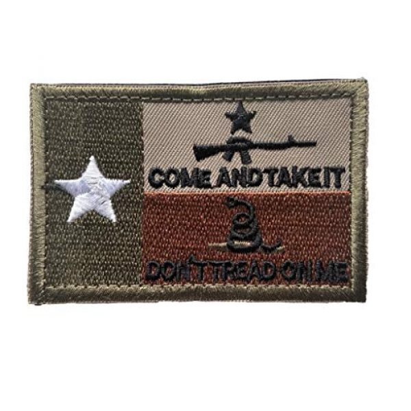 Backwoods Barnaby Airsoft Morale Patch 1 Backwoods Barnaby Texas Flag Don't Tread on Me/Come and Take It Morale Patch with Hook & Loop
