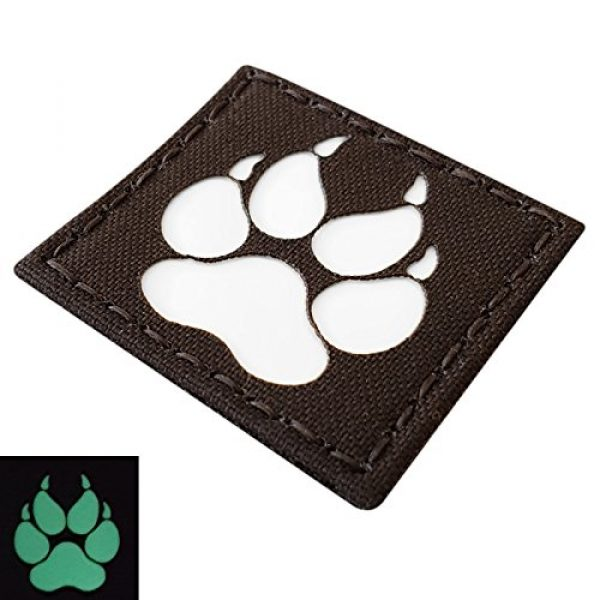 Tactical Freaky Airsoft Morale Patch 4 K9 Handler Dog Paw 2x2 GITD Tactical Morale Fastener Patch