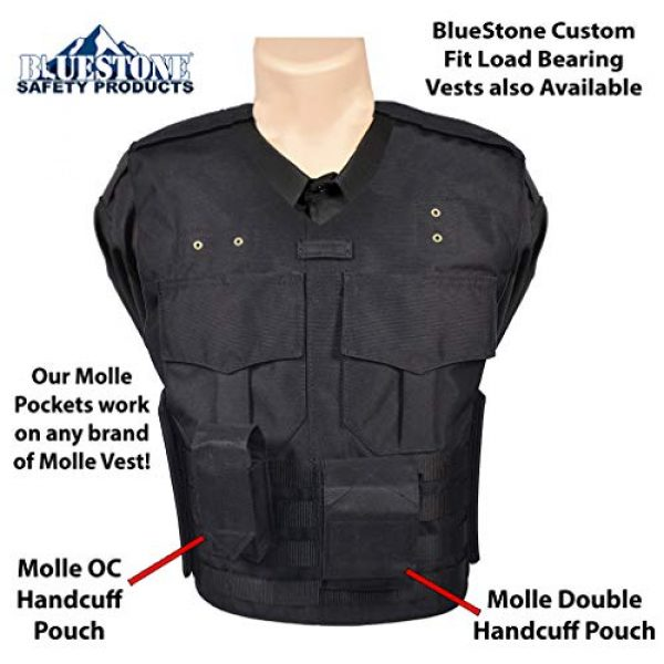 BlueStone Safety Tactical Pouch 2 BlueStone Safety Molle OC Pepper Spray Canister Pouch  Molle Pepper Spray Pocket  4.5 Inch Tall OC Spray Molle Tactical Pouch for Police & Security Load Bearing Vest Carriers/External Vest Carriers
