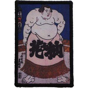 WAPPEN-YA DONGRI Airsoft Morale Patch 1 Morale Patch Hook and Loop Utagawa Kunisada Sumou-e Ukiyo-e Japan A0594