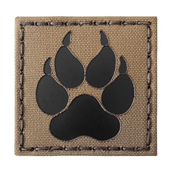 Tactical Freaky Airsoft Morale Patch 1 Coyote Brown Tan Infrared IR K9 Dog Handler Paw K-9 2x2 Tactical Morale Touch Fastener Patch