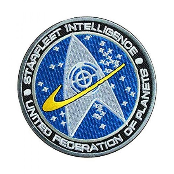 Embroidery Patch Airsoft Morale Patch 2 Star Trek TNG Starfleet Command United Federation of Planets Starfleet Intelligence Military Hook Loop Tactics Morale Embroidered Patch
