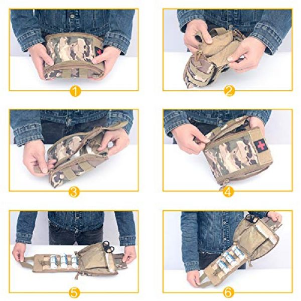 Azarxis Tactical Pouch 6 Azarxis Tactical MOLLE Rip-Away EMT Medical First Aid IFAK Utility Pouch Military Emergency EDC Trauma Bags Outdoor Survival Kit Suit