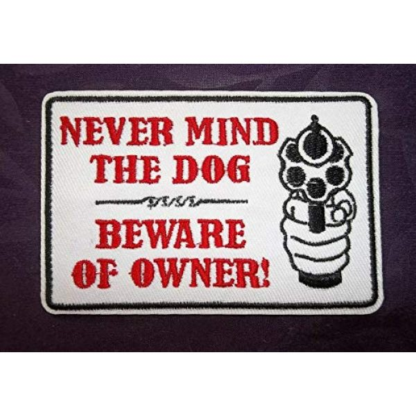 USA Team Airsoft Morale Patch 1 Morale Patch Beware of Owner Patches Guns Ammo Knives Weapons