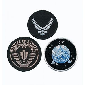 Miltacusa Airsoft Morale Patch 1 Stargate SG-1 Uniform/Costume Patch Set of 3 pcs Iron On Sew On by Miltacusa