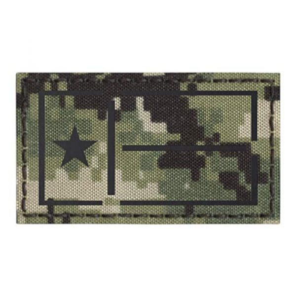 Tactical Freaky Airsoft Morale Patch 1 IR Texas Lone Star Flag NWU Type III 2x3.5 AOR2 IFF Plate Carrier Tactical Morale Hook-and-Loop Patch