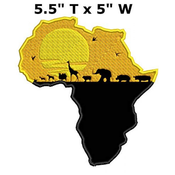"""Appalachian Spirit Airsoft Morale Patch 2 Africa Safari Wakanda 5.5"""" Embroidered Patch DIY Iron-on or Sew-on Decorative Vacation Travel Souvenir Applique Explore Wander Nature Wildlife Series Wildlife Hike Trek Camping National Park Scout"""