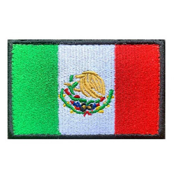 Antrix Airsoft Morale Patch 3 US Flag Mexican Flag Patch, Antrix 2 Pack Military Tactical Morale American Flag Mexico Flag Patches