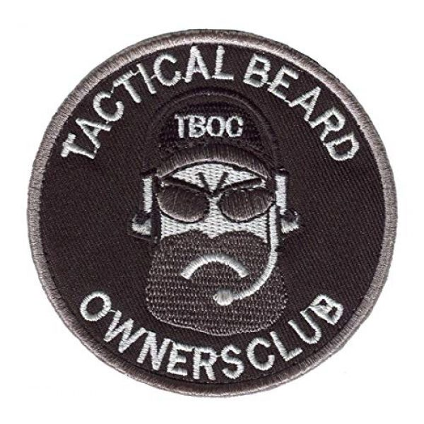 """Dark blue sea Airsoft Morale Patch 1 Dark blue sea Military Patches Tactical Beard Owners Club Exquisitely 3D Armband Morale Patch Hook & Loop Badge Appliques for Jackets Clothing Jeans Size: 3.15"""" 3.15"""" inch. (Color : Black)"""