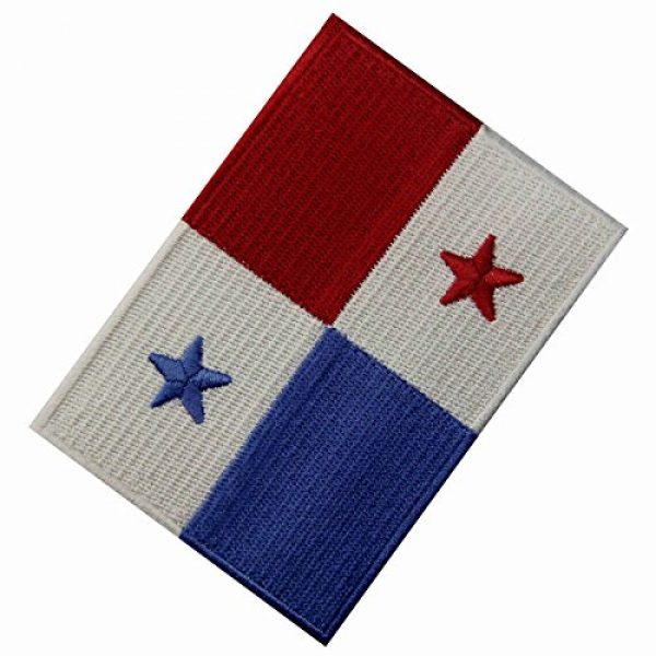 EmbTao Airsoft Morale Patch 3 Panama Flag Embroidered Emblem Panamanian Iron On Sew On National Patch