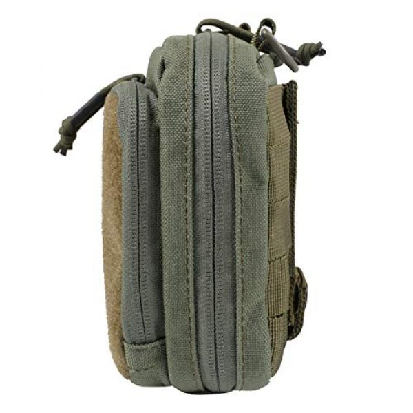 14er Tactical Tactical Pouch 7 14er Tactical MOLLE Admin Pouch | 1000D Material & YKK Self-Healing Zippers | Flag Patch Panel & MOLLE Compatible PALS | CAT TQ Straps, EDC, Utility, Hiking, IFAK, Tool Pack