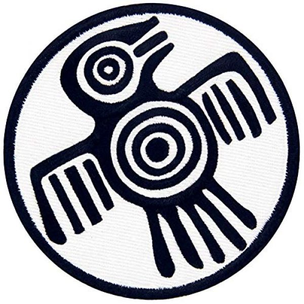 EmbTao Airsoft Morale Patch 3 Aztec Symbol of Power Strength and Courage Patch Embroidered Applique Iron On Sew On Emblem
