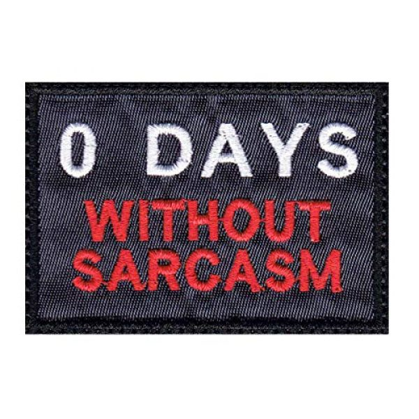 Tactical Patch Works Airsoft Morale Patch 1 Zero 0 Days Without Sarcasm Patch