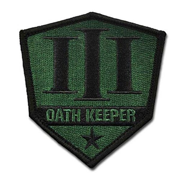 BASTION Airsoft Morale Patch 1 BASTION Morale Patches (Oath Keeper, Green) | 3D Embroidered Patches with Hook & Loop Fastener Backing | Well-Made Clean Stitching | Military Patches Ideal for Tactical Bag, Hats & Vest