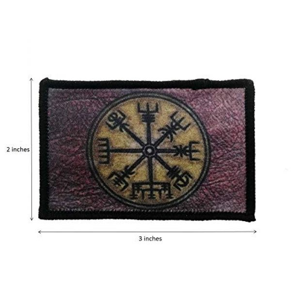 Cute-Patch Airsoft Morale Patch 2 Retro Vikings Compass Iron On Patch Norse Rune Badge Tactical Military Army Emblem