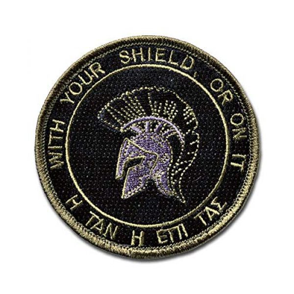 BASTION Airsoft Morale Patch 1 BASTION Morale Patches (Molon Challenge, ACU)   3D Embroidered Patches with Hook & Loop Fastener Backing   Well-Made Clean Stitching, Military Patches Ideal for Tactical Bag, Hats & Vest
