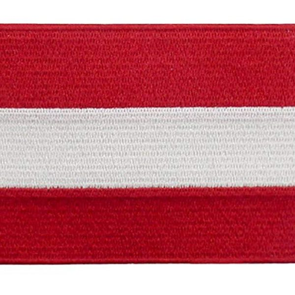 EmbTao Airsoft Morale Patch 2 Austria Flag Patch Embroidered Applique Iron On Sew On Austrian National Emblem