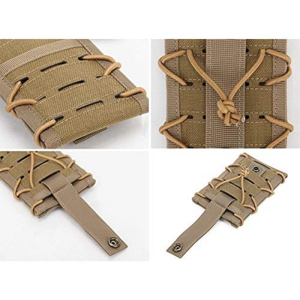 """Aoutacc Tactical Pouch 3 Aoutacc Tactical Phone Holder Holster, Molle Phone Pouch Multitool Sheath with Pocket for 4.7"""" 5.5"""" Phone"""