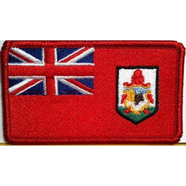 Fast Service Designs Airsoft Morale Patch 1 Bermuda Flag Patch with Hook & Loop Travel Patriotic Morale Shoulder Emblem Red Border Version #806