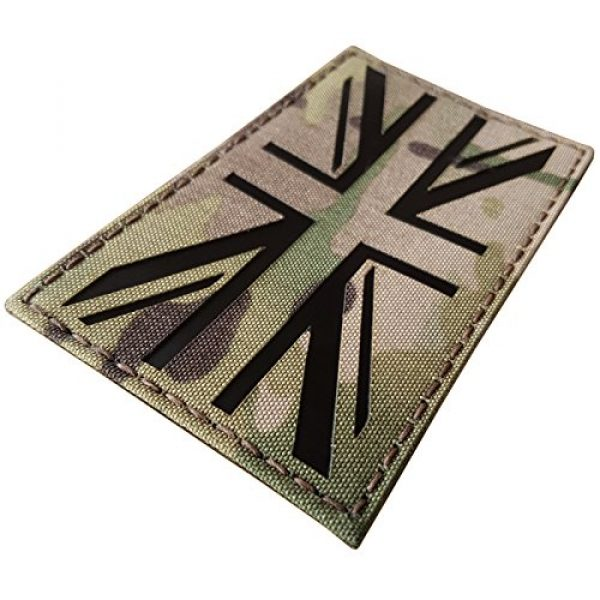 Tactical Freaky Airsoft Morale Patch 6 Big 3x5 Multicam Infrared IR UK Union Jack Flag IFF Tactical Morale Fastener Patch