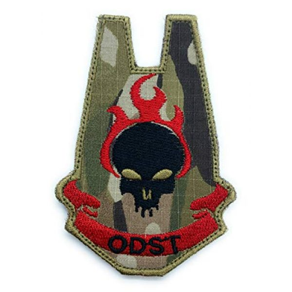 Almost SGT Airsoft Morale Patch 1 Halo ODST Patch- Funny Tactical Military Morale Embroidered Patch Hook Backing(Camouflage -Red)