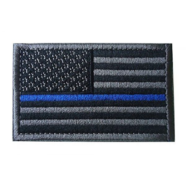 TACVASEN Airsoft Morale Patch 3 TACVASENBundle 2 Pieces-Tactical US Flag Thin Blue Line Embrodiered Patch